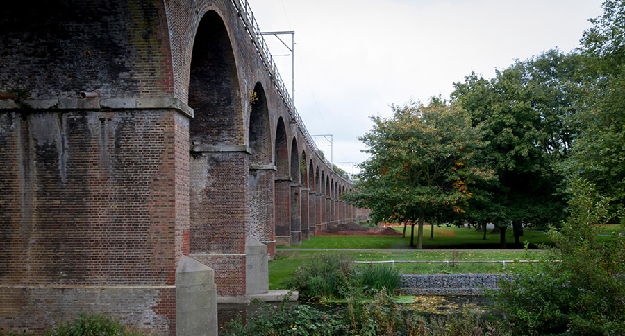 Viaduct over Chelmsford park